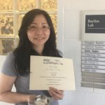 Congratulations to Yu-Hsin (Eva) Chiu on her recent award